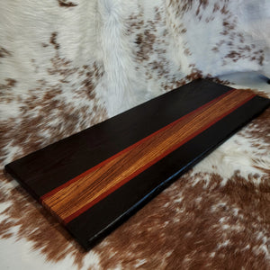 Wenge, Padauk, and Zebrawood XL Cutting Board