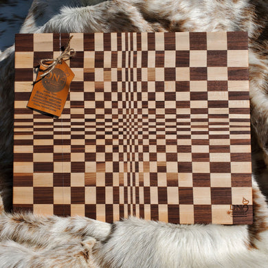 3D Cutting Board - Maple & Walnut