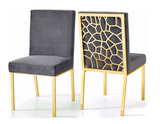 Abstract Velvet in Chrome or Gold