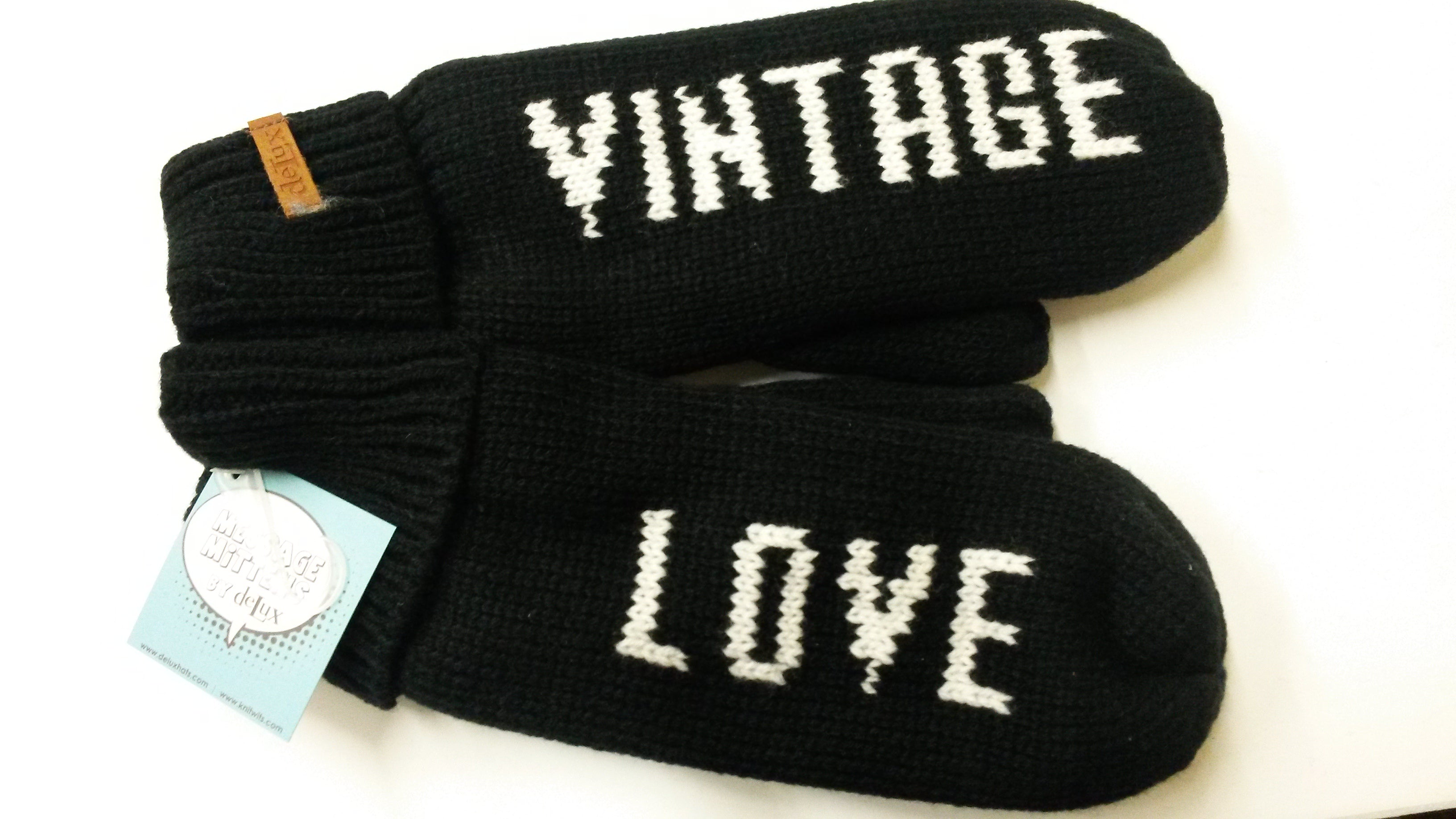 Message Mittens by Delux