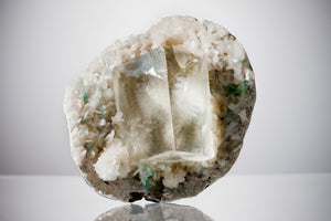 Calcite, Stilbite & Green Apophyllite