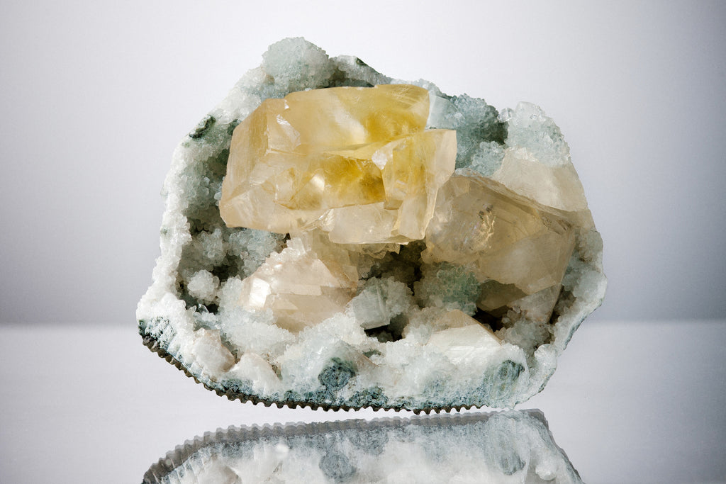 Honey Calcite & Chalcedony