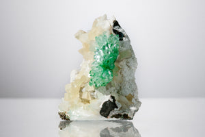Green Apophyllite & Calcite