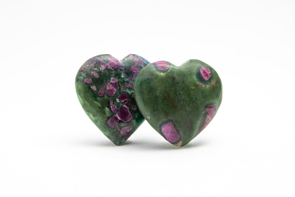 Ruby Zoisite Heart - small