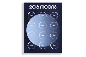 Moon Calendar, 2018, Night Edition