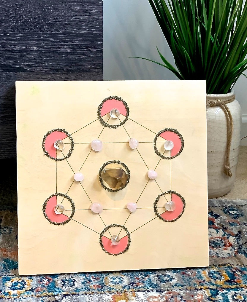Crystal Grid - Grounding & Love