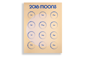 Moon Calendar, 2018, Day Edition