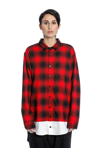 ASYLUM SHIRT-RED/BLACK_WOMEN