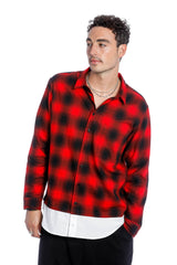 ASYLUM SHIRT-RED/BLACK