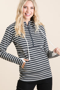 CURVY 3/4 ZIP HOODIE - COLOR OPTIONS
