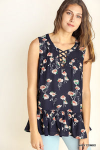 LATTICE FLORAL TANK - COLOR OPTIONS