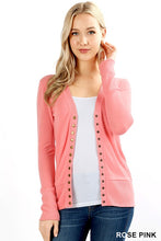 SNAP CARDIGAN (MULTIPLE COLORS)
