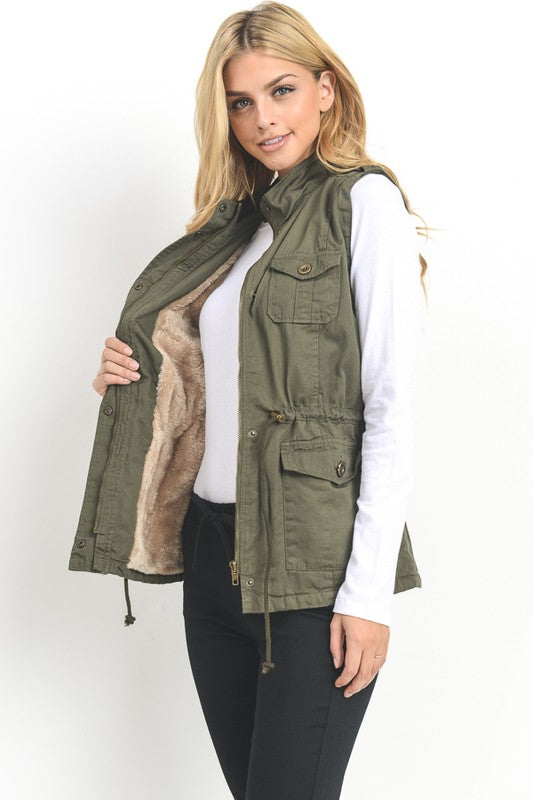 VEST - FAUX FUR LINED (COLOR OPTIONS)