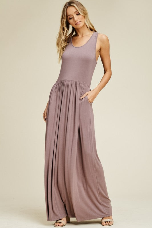 MOLLY MAXI -  TAUPE GRAY