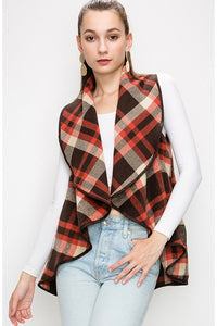 Shawl Plaid Vest