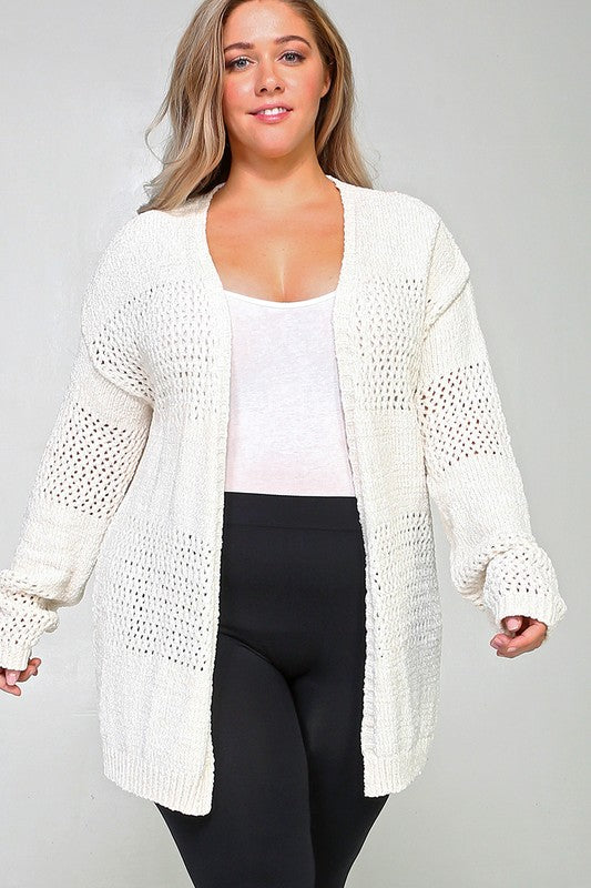 CURVY EYELET SWEATER