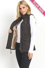 VEST - CURVY FAUX FUR (COLOR OPTIONS)