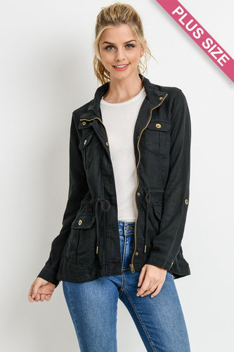 CURVY TENCEL JACKET