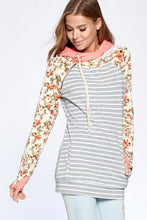 FLORAL DOUBLE HOODIE - COLOR OPTIONS