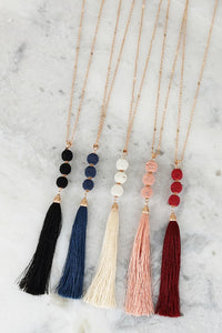 TASSEL PENDANT NECKLACE (4 OPTIONS)