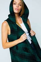 PLAID VEST - GREEN