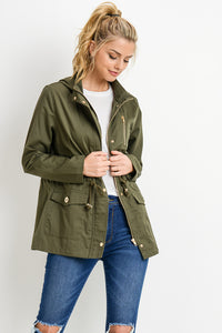 HOODED SAFARI JACKET