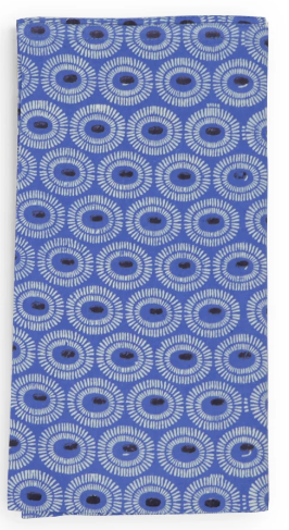 Indigo Tangier - Cotton Cambric Napkin - Set of 4