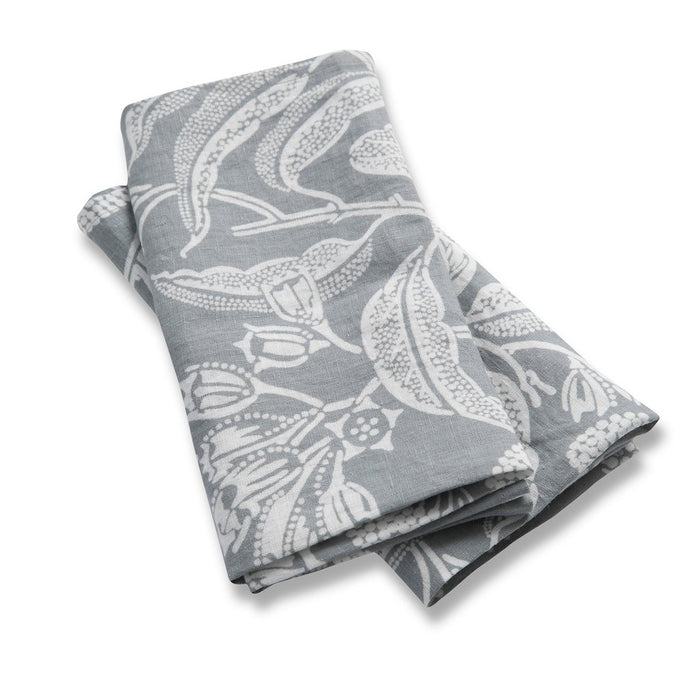 100% Lightweight Linen Napkins - Angophora Grey - Set of 2