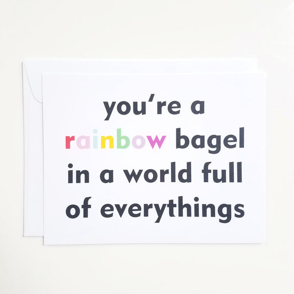 Rainbow Bagel Notecard