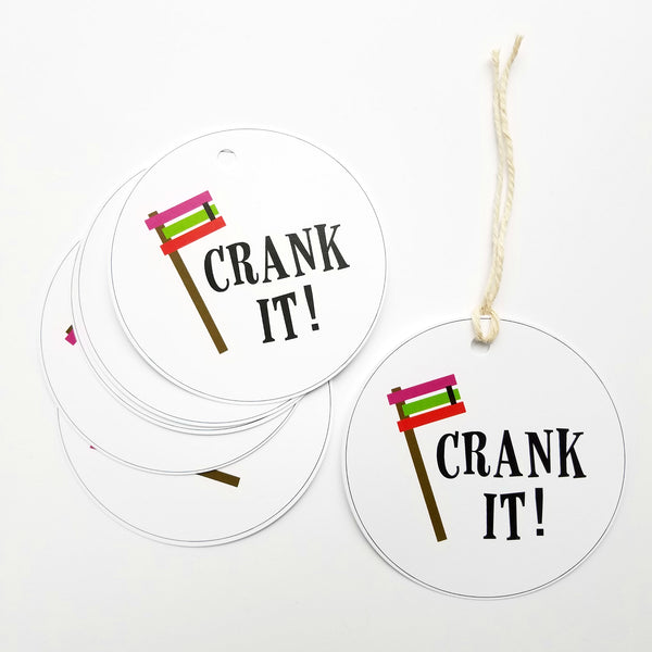 Crank It Purim Gift Tags