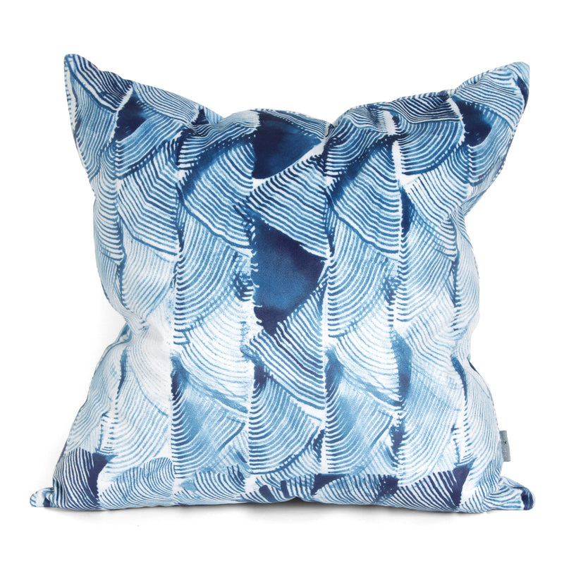 Tassel Fern Cushion Indigo
