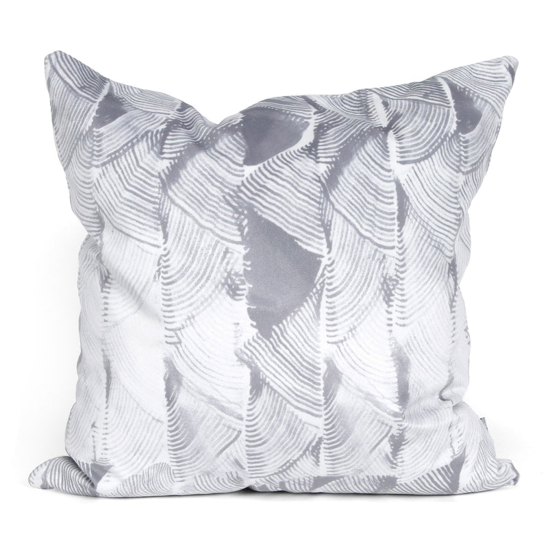 Tassel Fern Cushion Silver
