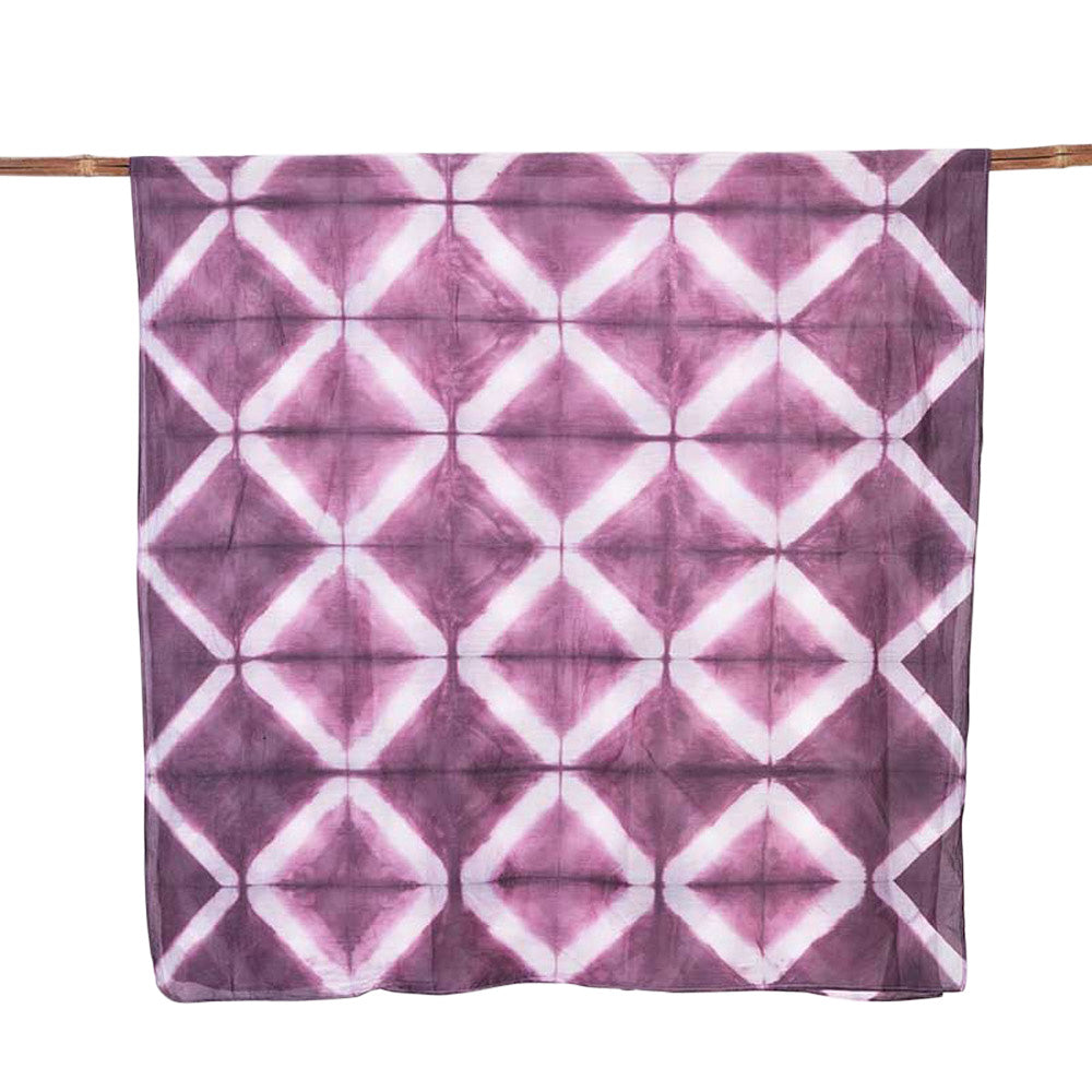 Grille Plum </p>Hand Dyed Sarong