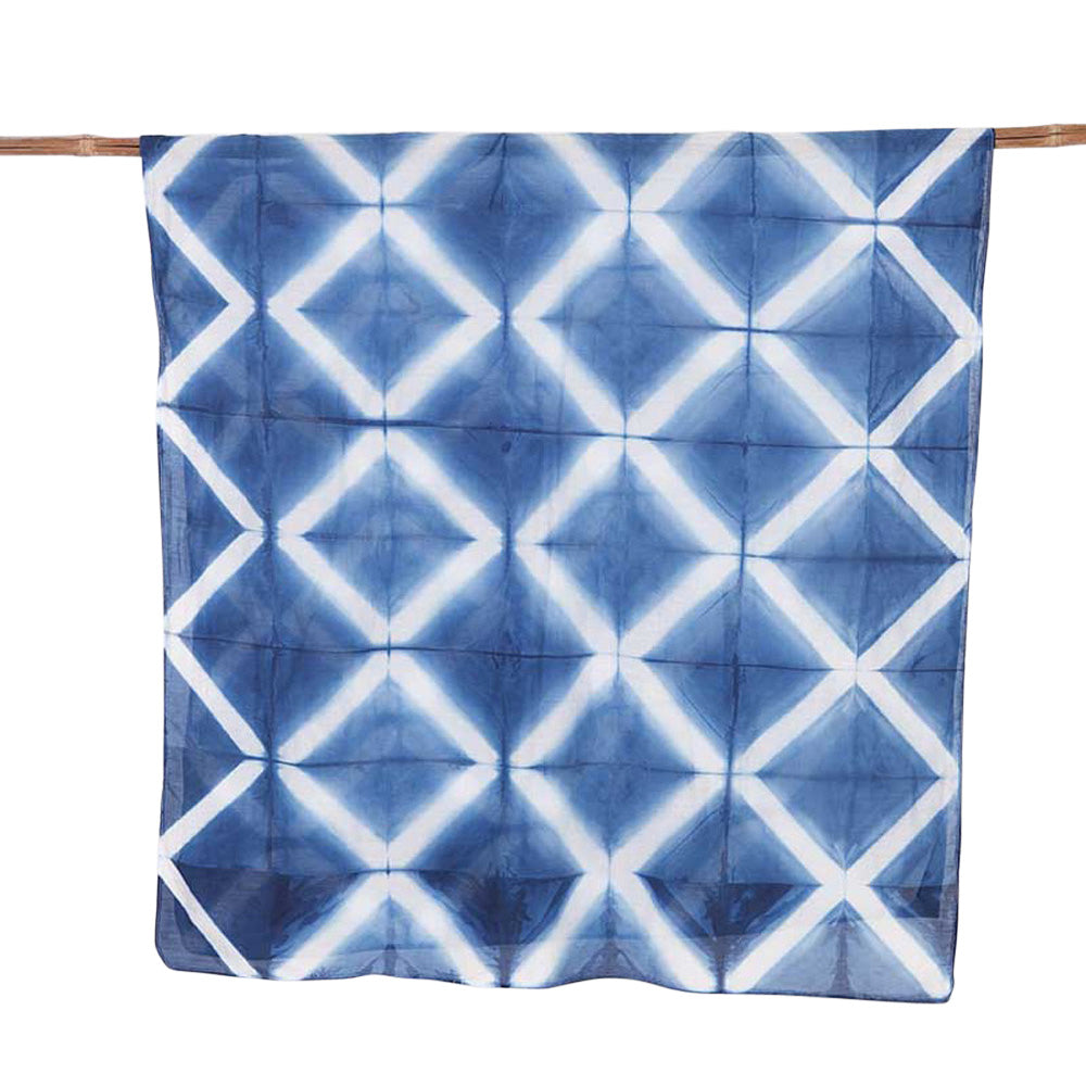 Grille Indigo </p>Hand Dyed Scarf