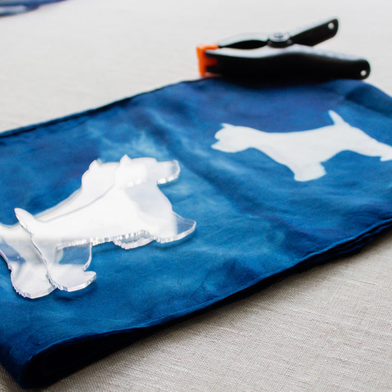 Dog Shibori Shapes