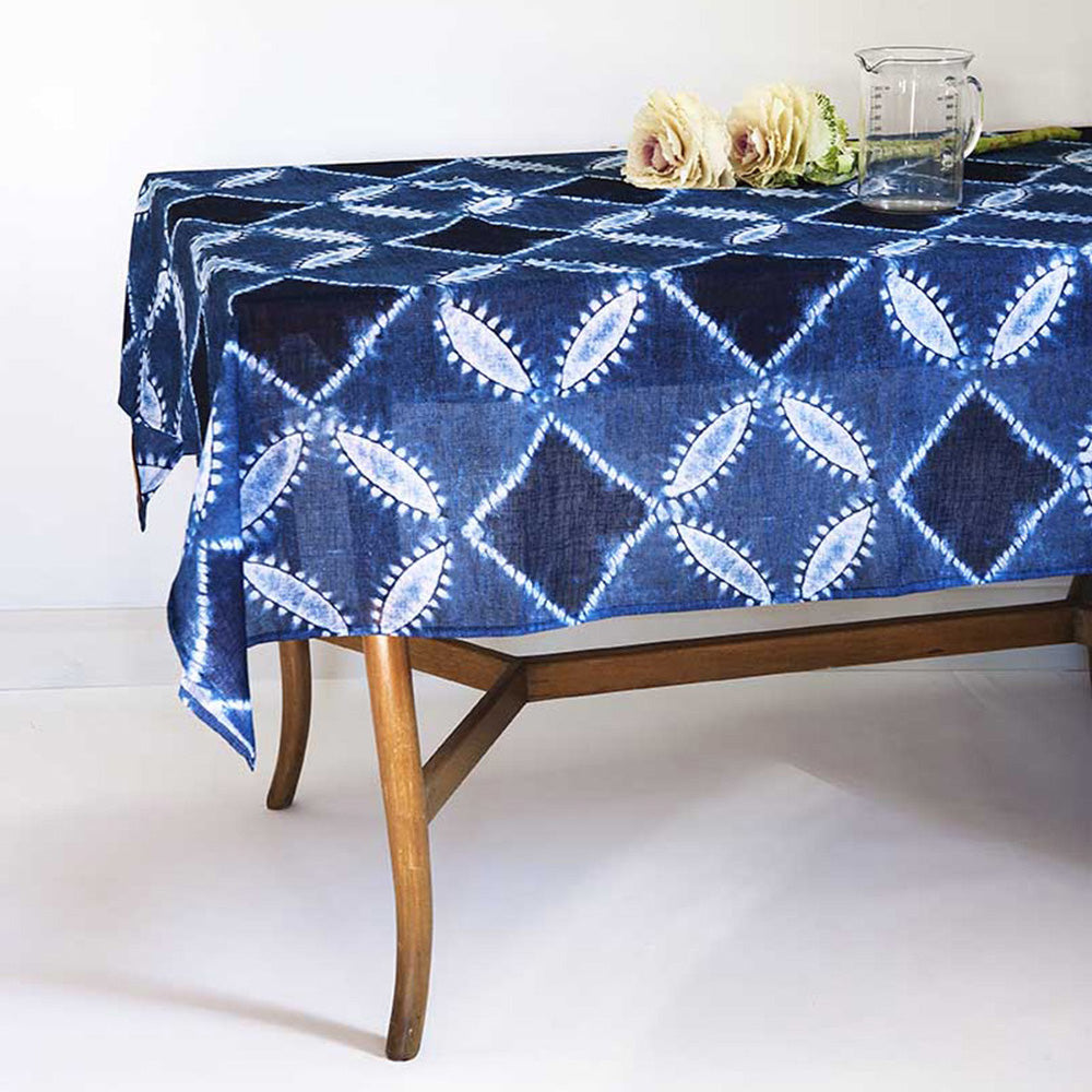 Kyomai Indigo </p>Sheer Tablecloth