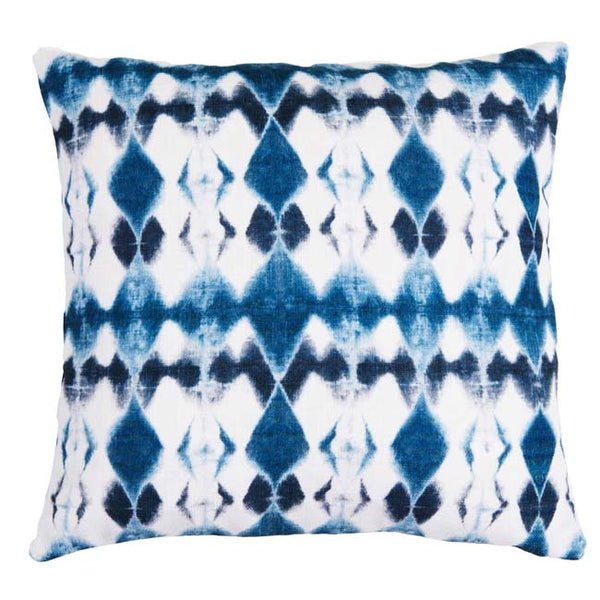 Lucy Diamonds Cushion Indigo