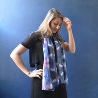 Moroccan Tile </p>Small Hand Dyed Scarf