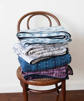 City Scape Night Indigo </p>Denim-backed Throw