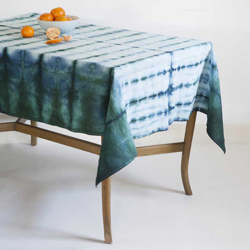 Country Ocean </p>Hand dyed Tablecloth