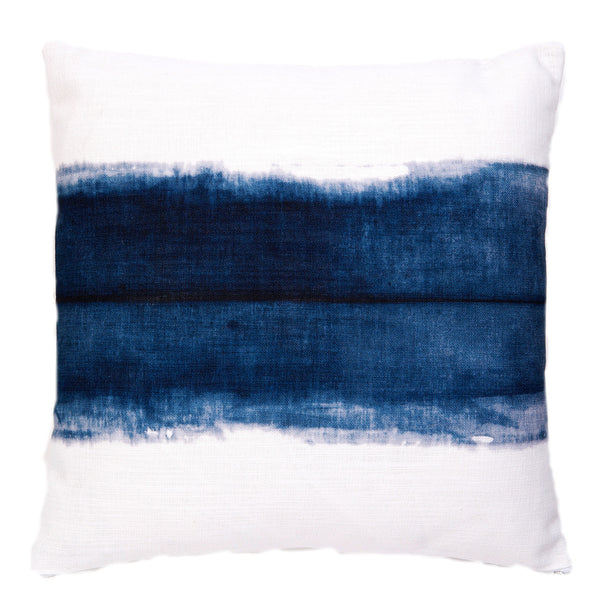 Single Stripe Indigo Cushion