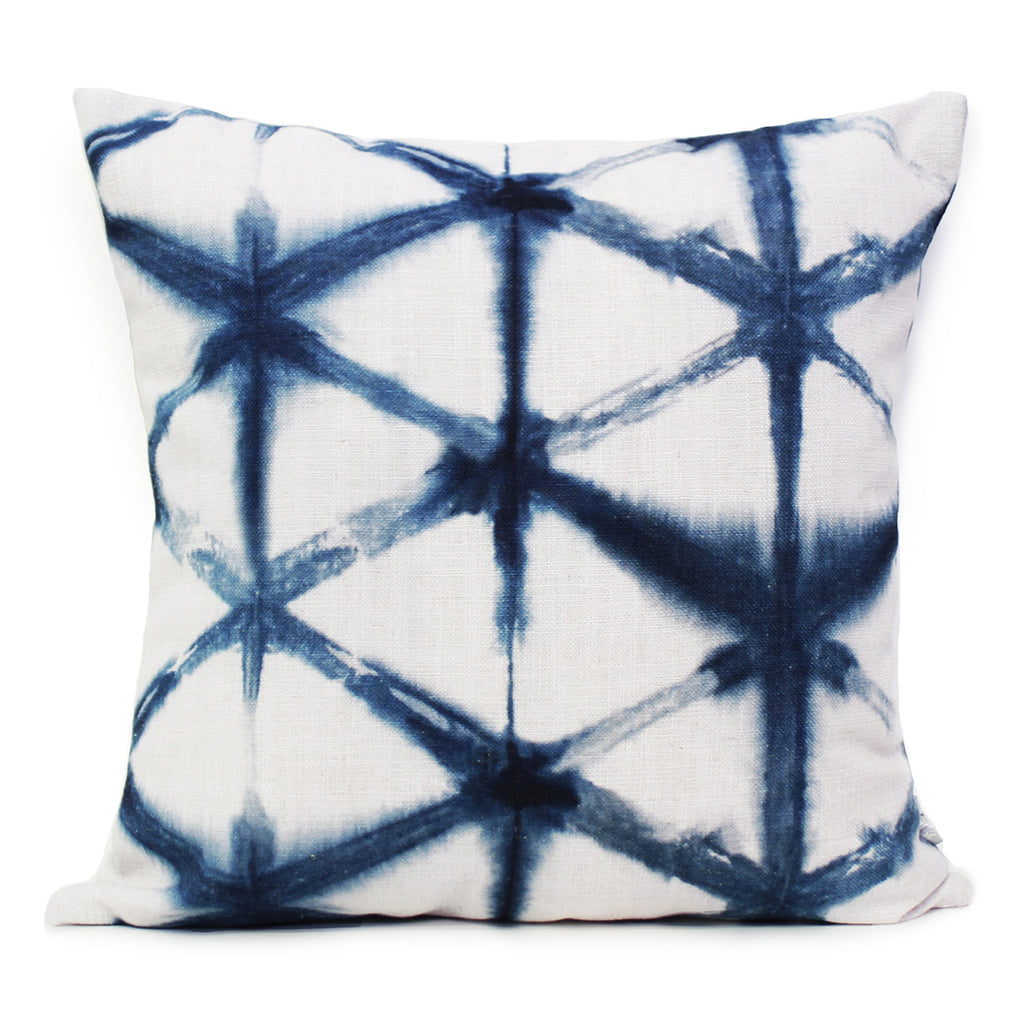 Star Cushion Indigo
