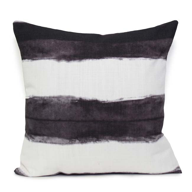 Stripe Cushion Charcoal