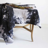 Watercolour Charcoal </p>Handmade Tablecloth