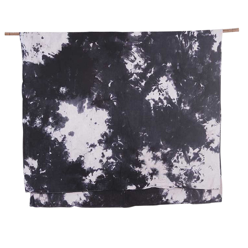 Watercolour Charcoal </p>Hand dyed Tablecloth