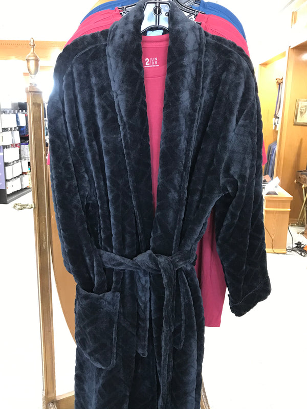 Ken's Spa Plush Robe - Black