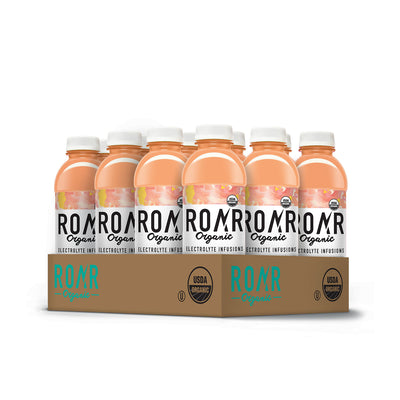 ROAR Organic Georgia Peach [12 Pack Case]