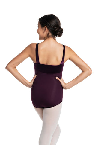 Ainsliewear Square Neck Leotard with Velvet Bodice