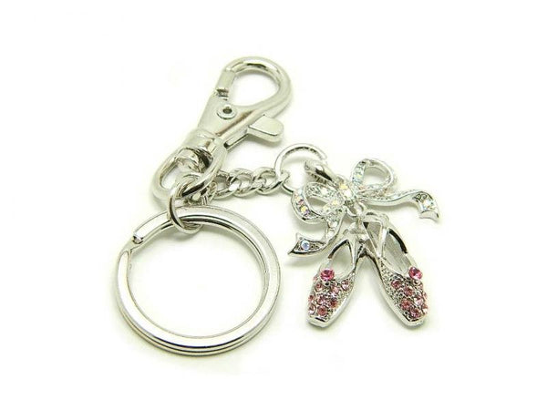 ADS Crystal Pointe Shoe Keychain