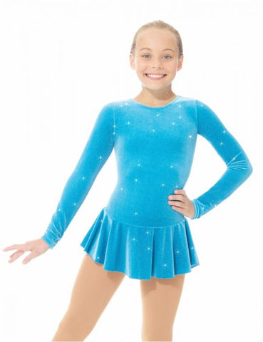 Mondor 'Born To Skate' Glitter Velvet Skating Dress